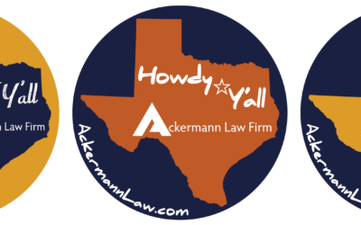 Ackermann Law Firm Conference Stickers