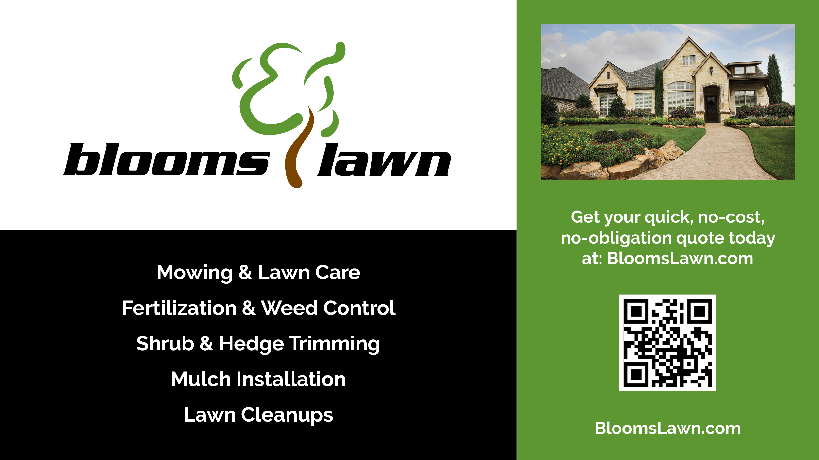 Blooms Land Care Fort Worth EDDM Flyer